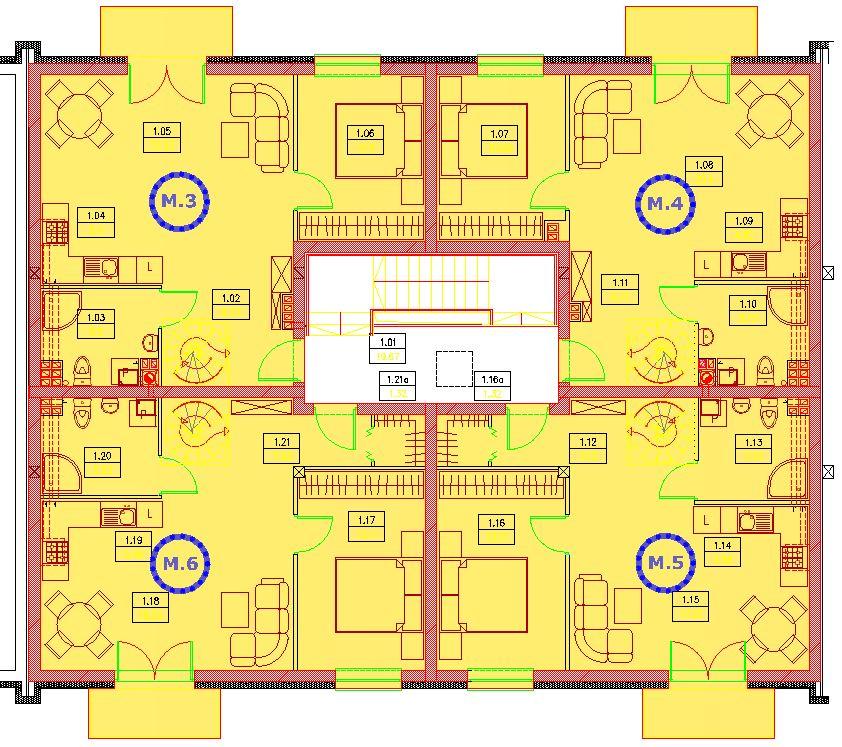 segment B piętro